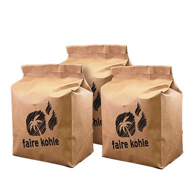 Faire Kohle Kokosnussbriketts kaufen großes Paket bestellen